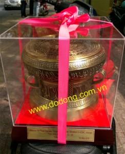 Bộ trống đồng dk 20cm làm quà tặng khách vip