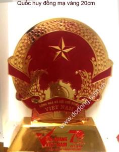 quốc huy mạ vàng 24k