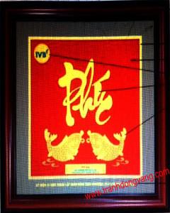tranh chữ mạ vàng 24k cao cấp