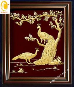 tranh vàng lá nghệ thuật,tranh quà tặng 3d