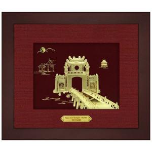 Tranh dát vàng 24k đền ngọc sơn Hoàn kiếm hà nội