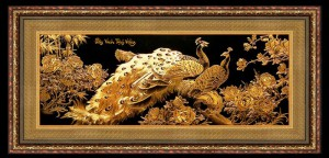 Tranh dát vàng, tranh cao cấp dát vàng 24k