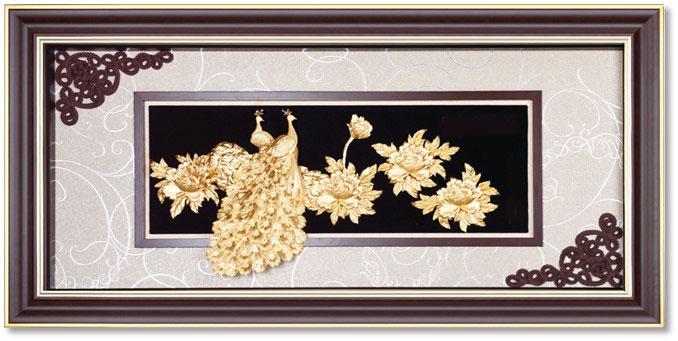 Tranh vinh hoa phú quý 60x120 cm treo phòng khách gia đình, phòng ngủ